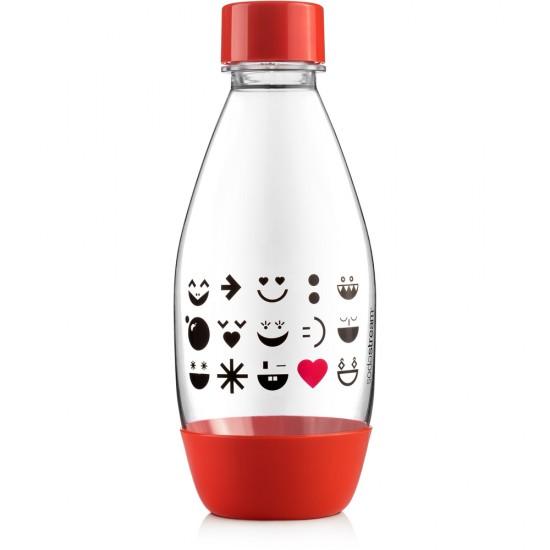 Fľaša detská 0.5l smajlík červená SODASTREAM