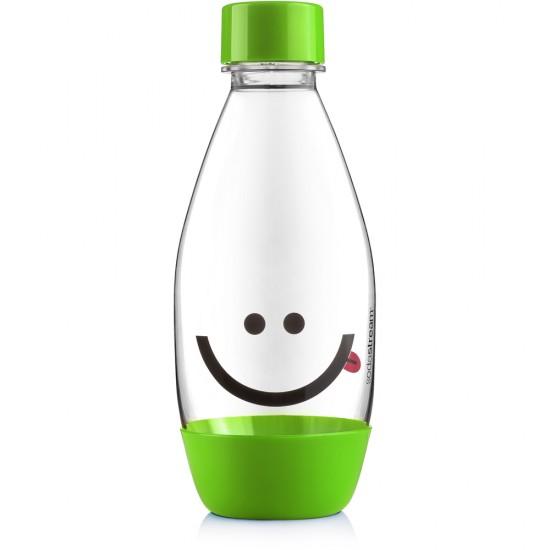 Fľaša detská 0,5l smajlík zelená SODASTREAM