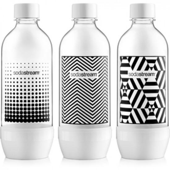 SODASTREAM Fľaša TRIPACK 1l BLACK&WHITE