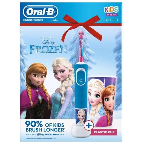 Oral-B Vitality D100 Frozen + Cup, elektrická zubná kefka 10PO010284
