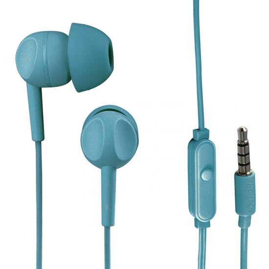 Thomson slúchadlá s mikrofónom EAR3005, silikónové štuple, tyrkysové