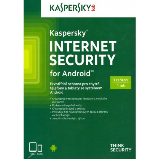 Kaspersky Internet Security Android 3 lic. 12 mes.