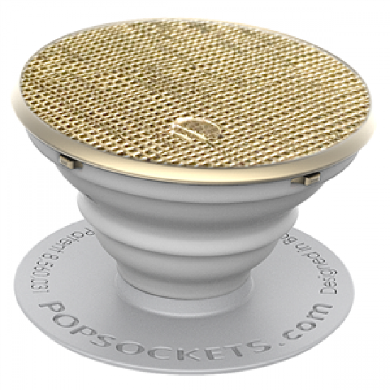 PopSockets Original PopGrip, Saffiano Gold, vegánska koža 43109200
