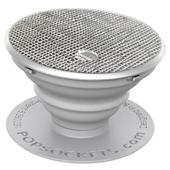 PopSockets Original PopGrip, Saffiano Silver, vegánska koža 43109400