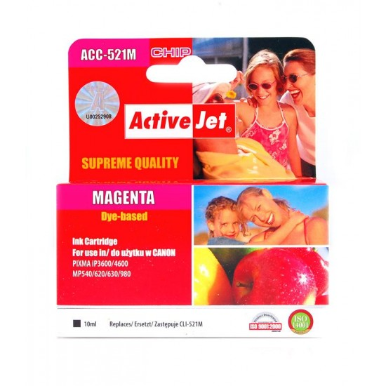 ACTIVEJET CLI-521M MAGENTA S CHIPOM